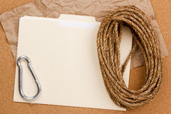 Rope And Folder Royalty Free Stock Photo