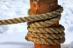 Rope around pole Stock Photos