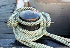 Rope around a pole Stock Photos