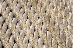 Rope background. Nautical rope aligned, creating an interesting background Royalty Free Stock Photography