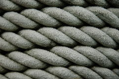Rope background. Close-up of rope on a ship Stock Photo
