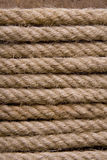 Rope background. Brown rope background coil horizontal Royalty Free Stock Photo