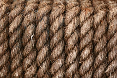 Rope background. A wrapped rope background texture royalty free stock photography