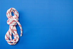 Rope background in blue Stock Photo