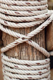 Rope Background with old wood Royalty Free Stock Photo