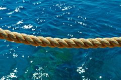 Rope on the background of the Red Sea royalty free stock photo