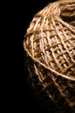 Rope ball on black Stock Images