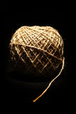 Rope ball on black Royalty Free Stock Images