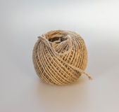 Rope Ball. Jute rope ball close up stock images
