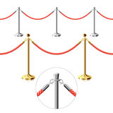 Rope barrier royalty free illustration