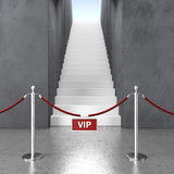 Rope barrier and stair Royalty Free Stock Images