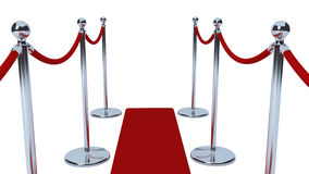 Rope barriers with red carpet Royalty Free Stock Images