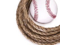 Rope baseball ball Royalty Free Stock Image