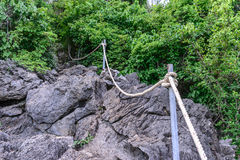 Rope for basic climbing.  Stock Photo