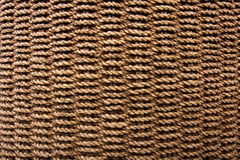 Rope Basket Weave Texture. Detail of a curved basket weave surface royalty free stock images