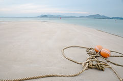 Rope on beach Royalty Free Stock Images