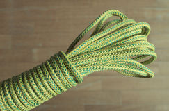Rope. Bight of dynamic rope using in sport climbing Royalty Free Stock Photos