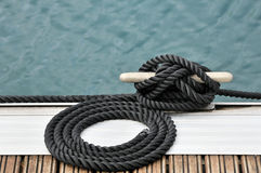 Rope and bitt Stock Image