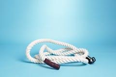 Rope on blue background Stock Image