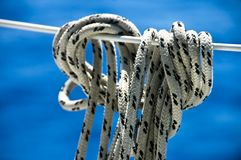 Rope on Blue Sea Royalty Free Stock Images