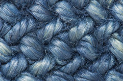 Rope blue texture. Rope detail. Close-up of its texture Stock Photos