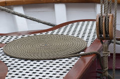 Rope on a boat Royalty Free Stock Image