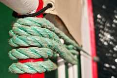 Rope on boat, abstract background Stock Photography