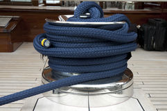 Rope on boat Stock Images