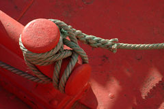 Rope of boat moored Royalty Free Stock Photos