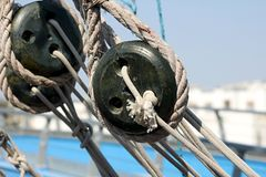 Rope on a boat Royalty Free Stock Photo