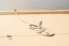 Rope on boat Stock Image
