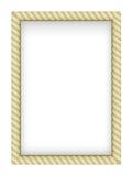 Rope Border. Yellow Rope Border. Illustration on white background Stock Photos