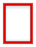 Rope Border. Red Rope Border. Illustration on white background Royalty Free Stock Image