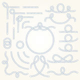Rope border elements vector illustration