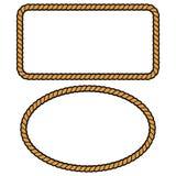 Rope Border Illustations. A vector illustration of some Rope Borders royalty free illustration