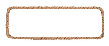 Rope border isolated on white background Stock Images