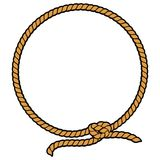 Rope Border Lasso. A vector illustration of a Rope Border Lasso Royalty Free Stock Photography