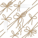 Rope bows, ribbons and labels Stock Photo