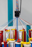 Rope braiding machine. In work Stock Photo