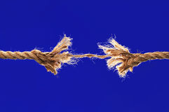 Rope Breaking Royalty Free Stock Photo