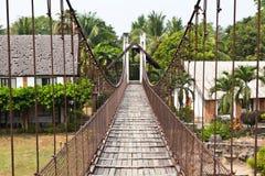 Rope bridge Stock Images