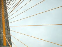 Rope bridge. Abstract active architecture Stock Photography
