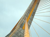 Rope bridge. Abstract active architecture Royalty Free Stock Image