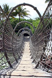Rope Bridge. An unusual bridge made of rope royalty free stock images