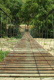 Rope bridge. Royalty Free Stock Images