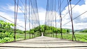 Rope Bridge at Kaengkrachan Dam Stock Image