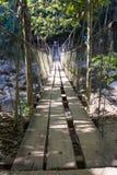 Rope bridge at Klong Pai Boon Waterfall in Chanthaburi province Royalty Free Stock Image