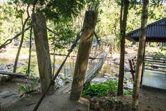 Rope bridge at Klong Pai Boon Waterfall in Chanthaburi province Stock Images