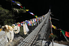 Rope bridge from nepal Stock Photos