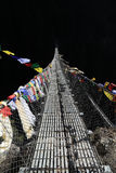 Rope bridge from nepal Royalty Free Stock Photography